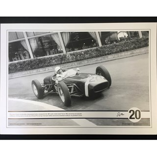 Signed Stirling Moss 'Stirling Effort' 1961 Monaco GP photo
