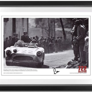 Victory' Mille Miglia print, signed by Stirling Moss