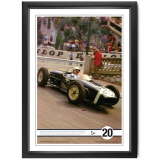 Moss at Monaco' colour print signed by Stirling Moss