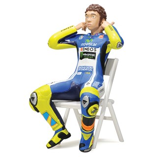 Minichamps Valentino Rossi Checking The Ear Plugs Figure - 2014 Moto GP 1:12