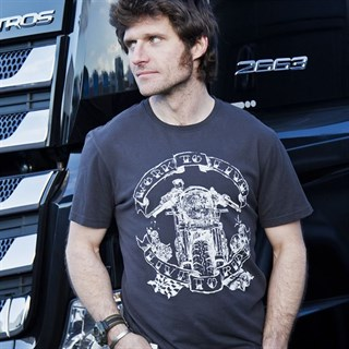 Red Torpedo Guy Martin Live to Ride T-shirt