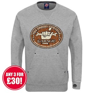 Retro Legends Busted Knuckle sweatshirt in grey