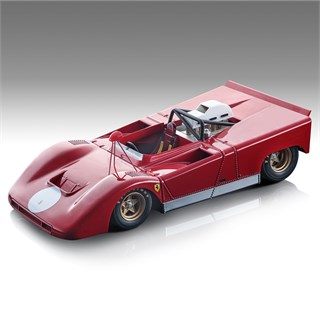 Tecnomodel Ferrari 712 - 1971 Can-Am Press Car - Red 1:18