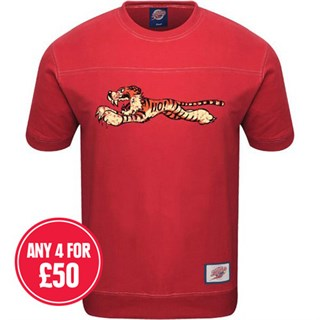 Retro Legends Tiger 110 T-sweat in red
