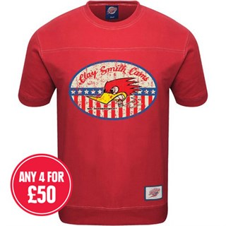 Retro Legends Clay Smith Cams T-sweat in red