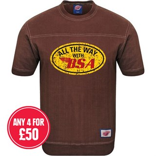 Retro Legends Classic All The Way With BSA T-sweat in brown