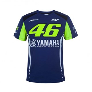 Rossi 2017 Yamaha Team T-Shirt Blue