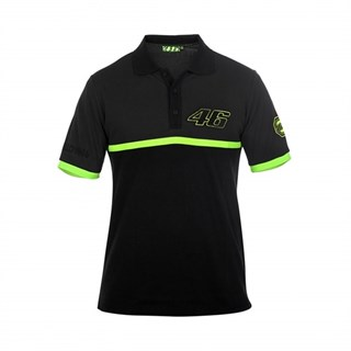 Rossi 46 Polo Shirt in black