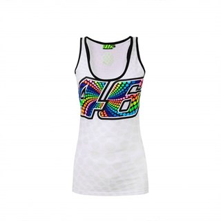 Rossi 46 ladies tank top in white