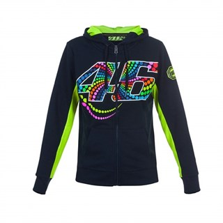 Rossi 46 ladies zip hoodie in blue