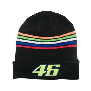 Rossi 2018 Beanie Hat in black Stripes