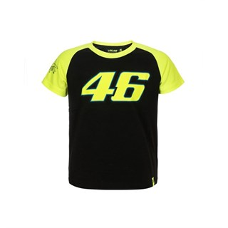 Rossi 2018 kids Race T-shirt in black / yellow