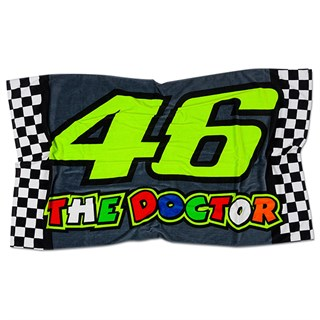 Valentino Rossi VR46 2020 Race 46 Doctor beach towel