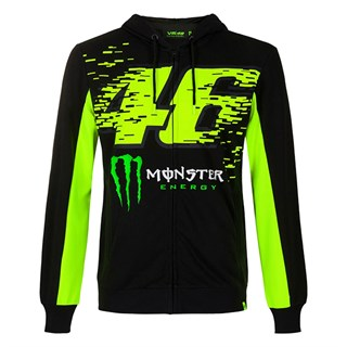 Valentino Rossi VR46 2020 Monster hoodie in black and yellow S